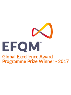 Logo EFQM Global Excellence Award  - Programme Prize Winner 2017