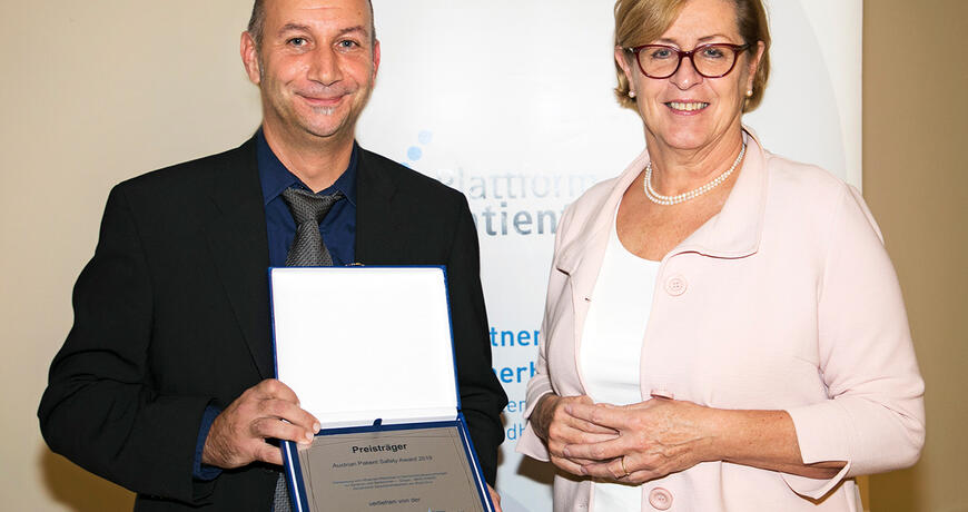 Übergabe Austrian Patient Safety Award